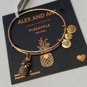 Alex and Ani Pinapple Swarovski Crystal bracelet